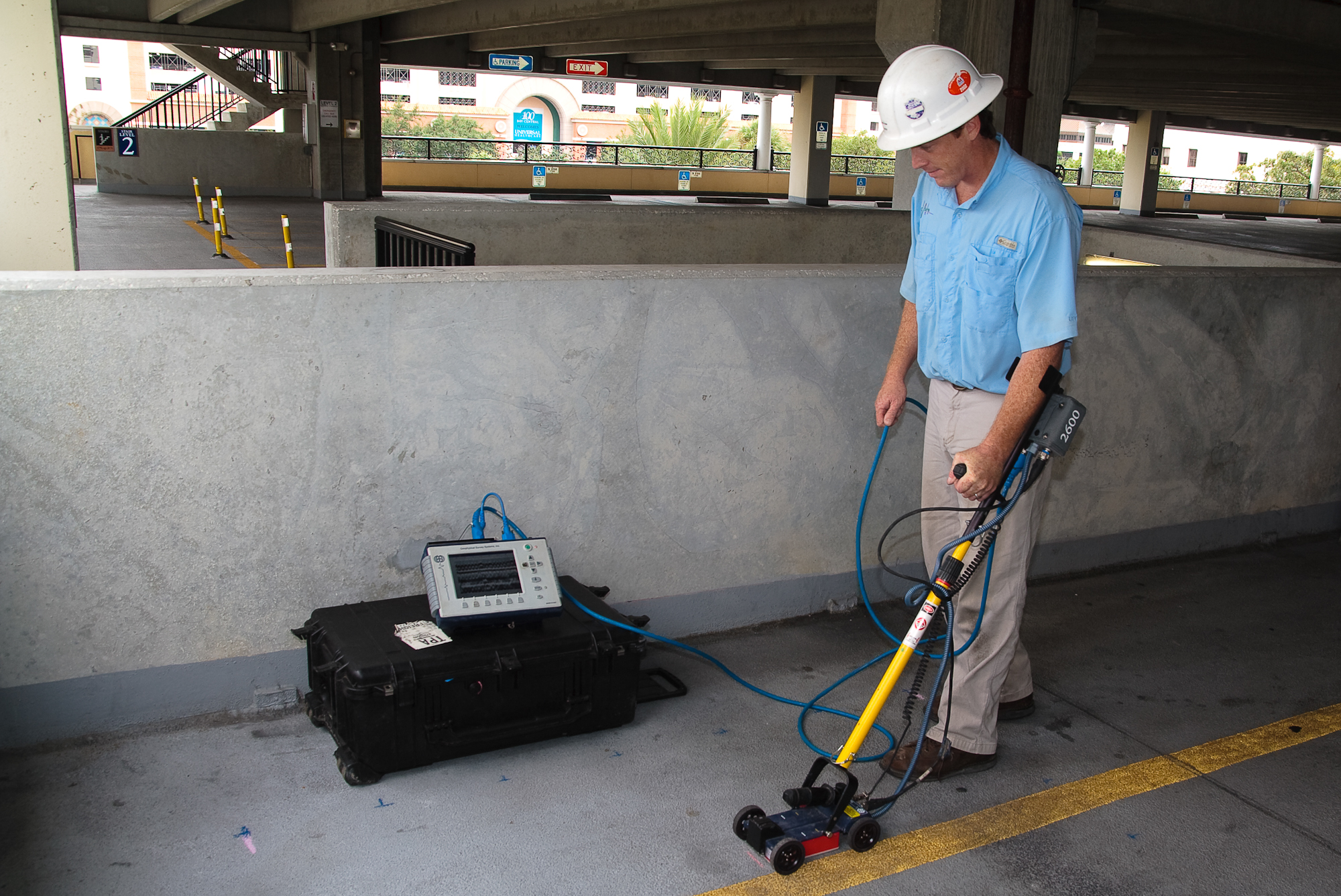 Collection of GPR data for Rebar Mapping