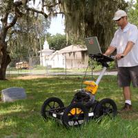 GPR survey to map burial plots
