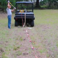 MASW Survey with a land streamer