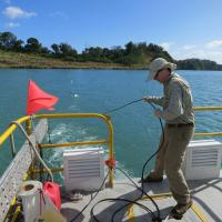 Deploying a hydrophone cable (conducted with Spotlight Geophysical)