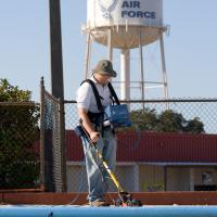 GPR survey to map shallow voids