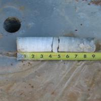Concrete Core Confirming Zone of Delamination
