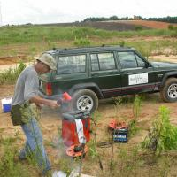 Using a Betsy Seisgun as a Seismic Source for a Refraction Survey (Florida)