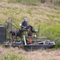 GPR Survey with an airboat to map extends of sinkhole features