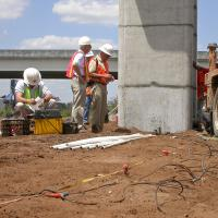 Seismic survey to help determine the cause of an elevated roadway collapse