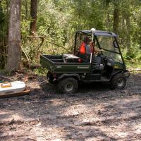 GPR survey using an all-terrain vehicle