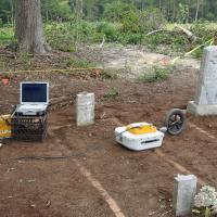 GPR Survey across several gravesites (Georgia)