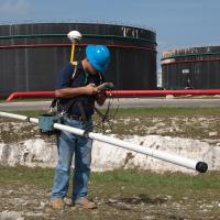 Electromagnetic Survey Using a Geonics EM-31 at an Oil Storage Facility