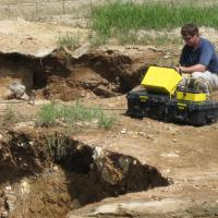 ERI Survey of a sinkhole within a retention pond
