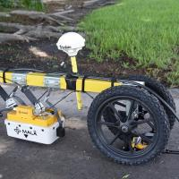 GeoView RoadCart GPR sytem with Mala 800 and 2300 MHz Antennas