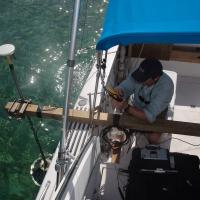 Sub-bottom survey using a strato-box