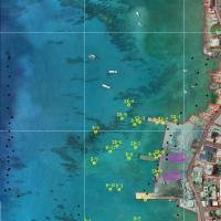 Example of Bathymetry Data on Aerial (Caymans)