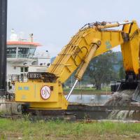 Dredging Activity along the Panama Canal