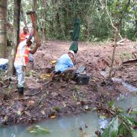 Seismic Refraction Survey across a Stream, Panama