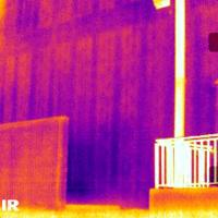 Thermal Image showing filled masonry block cells