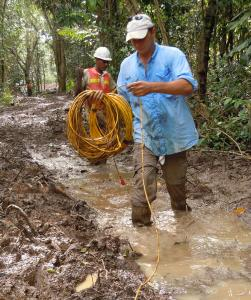 Laying of Seismic Cable in Jungles of Panama
